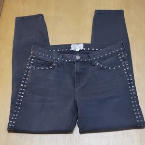 Current/elliot the crop skinny in night w/studs 28